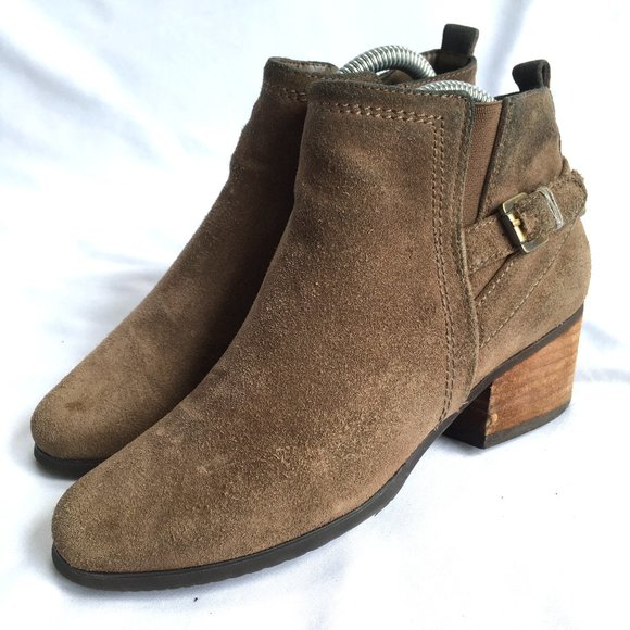Blondo Idra Booties Ankle Boots Taupe